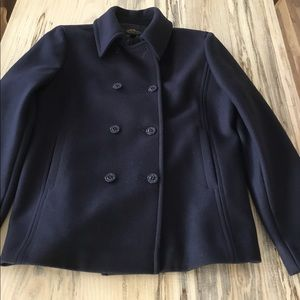 NWOT L.L. Bean Classic Wool Peacoat in Navy